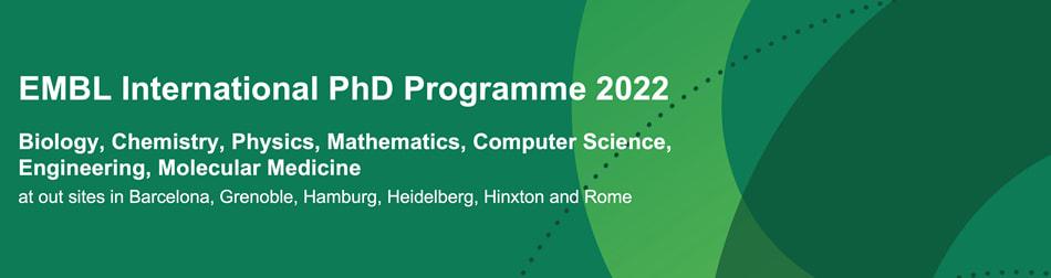 EMBL International PhD Programme 2017