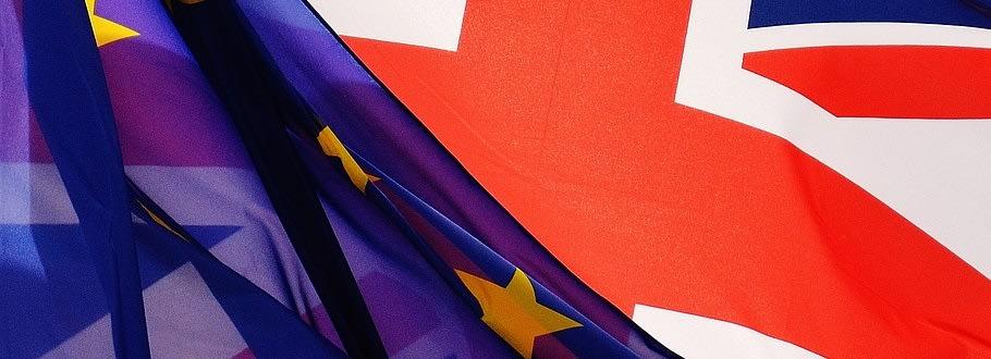 EU flag over Union Jack