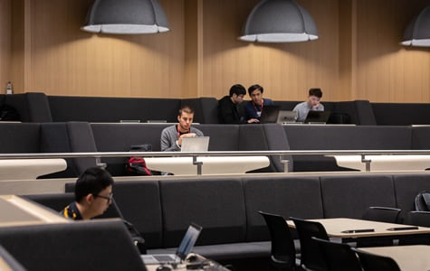 Students study in the Department of Earth Science and Engineering