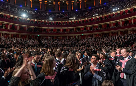 Students graduate at the Royal Albert Hall