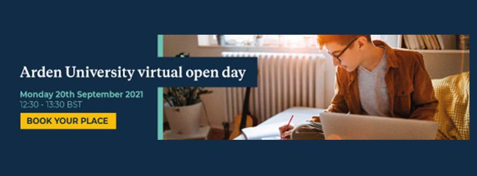 Arden University September Virtual Open Day